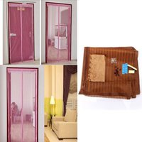 Wholesale 1pc Mosquito Door Curtain Fly Bug Mesh Insect Net Netting Mesh Screen Magnets Hot coffee x210cm