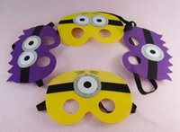 baby face film - New Fashion styles Children Despicable Me mask Minions masks Baby Holloween Cosplay mask Halloween party kids Favorites mask hot sale