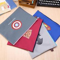 Bolsa de héroe clásico al por mayor-Corea del Documento A4 bolsa de tela de Oxford Pocket archivo zip de archivos carpeta de diseños de productos de presentación