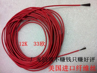 Wholesale New Infrared Teflon Underfloor Heating Cable System Mm K Ohm PTFE Silicone Carbon Fiber Floor Roof Electric Wire Hotline