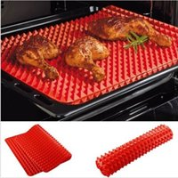 Wholesale Pc Red Pyramid Pan Nonstick Silicone Baking Mat Mould Cooking Mat Oven Baking Tray
