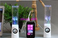 Dancing Water Speaker Activa Mini Portátil USB LED de Luz de Altavoz Para iphone ipad PC MP3 MP4 PSP
