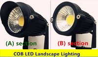 Wholesale 10pcs W COB LED Lawn Lamps Outdoor Lights IP65 Waterproof Landscape Garden wall Path Pond spot Light warm white V220V230V