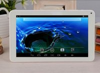 Wholesale 9 inch A33 Quad Core tablet dual camera HDMI with flash light Big battery mah Android DHL ZKT