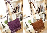 Wholesale 2015 New Fashion Fringe Tassel Women s Handbags Women Messenger Bag Lady Cross Body Knitting Shoulder Bag