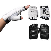 Wholesale 2015 New Half Finger PU Leather Boxing Gloves Sanda Fighting Sandbag Fist Glove S M L XL Colors Available T0311