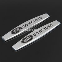 Wholesale 2PCS CAR TRUNK BODY FENDER GO BEYOND METAL EMBLEM BADGE STICKER FOR LAND ROVER BLACK