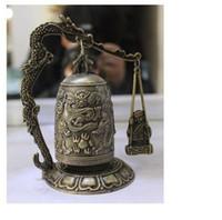 animal bronze sculpture - cheap Chinese Bronze Brass Buddhism Dragon Ball Temple Bell Shelf Sculpture