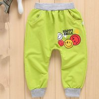 Wholesale The New Fashion Haren Elastic Pants Before The Smiling Face Of The English Year Old Children Pants C