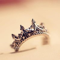 ancient wedding rings - New Arrive Crown Ring Palace Restoring Ancient Ways The Queen s Temperament Woodwork Tail Silver Rings For Women