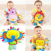 Wholesale 4 Styles Baby Infant Soft Appease Stuffed Toy Playmate Calm Doll Kid Baby Plush Toy Cute Animals Toy