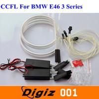 großhandel ccfl light-2 * 131mm + 2 * 146mm CCFL Angel Eyes Halo Lichter Weiß Auto-Scheinwerfer für BMW E46 3er CARS0730