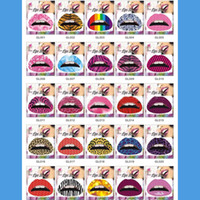 Wholesale Personalized Temporary Lip Tattoo Sticker Lipstick Art Transfers Many Designs Color Random hot selling
