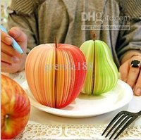 Wholesale 500pcs Mix color Notes Creative Fruit shaped Note Notebook Diary Book Pad Novelty Gifts