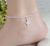 Wholesale Cute Womens Multi pattern Heart Star Wedding Sandal Anklet Chain Fashion Foot Jewelry For Sale