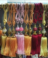 Wholesale 2015 Curtain Tieback Home Decor Jade Multicolor Hanging Ball Curtains Lashing Bandage Accessories Decorations Fashion Modern
