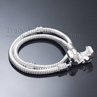 Wholesale Factory Price cm Snake Charm pandora Bracelet Silver Plated