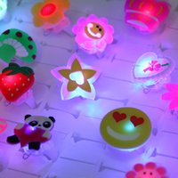 Wholesale pieces Cartoon soft Led Finger Ring Toy Party Props Glow In The Dark Party Supplies Juguetes Halloween Decoration