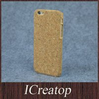 apple granules - Eco friendly granule cork wood cellphone cases cover for iphone plus s6 s6edge wooden gold foil cork leather phone cases hard back cover