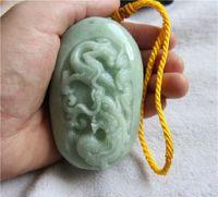hand carved jade - Natural jade carved jade Zodiac dragon handgrip hand playing Jade Pendant P97
