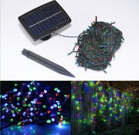 Wholesale Solar Powered led string light LEDS M lighting garden light outdoor solar panel light For Christmas Holiday H2021