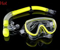 Wholesale Hot Sale Swimming Swim Gear Scuba Anti Fog Goggles Mask Dive Diving Glasses Snorkel Blue Green Yellow Professional Dive Mask SV007075
