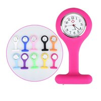 Wholesale 50PCS silicone nurse watch nurse pin watch silicone nurse fob pocket watch hang nurse watch utop2012