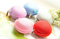 Wholesale 6 colors Colorful Earbud Carrying Storage Bag Pouch Hard Case for Earphone Headphone USB cable Coin etc