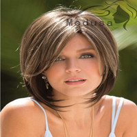 best bangs - Fashion New Womens Ladies Short Straight Full Bangs BOBO Hair Cosplay Wig best quality Mix Color