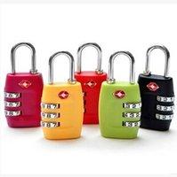 Wholesale DHL Padlock TSA338 Resettable Digit Combination Padlock Suitcase Travel Lock TSA locks customs Luggage Padlock