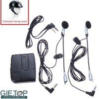 Wholesale Motorcycle Helmet to Helmet Intercom Set Radio Communication Device Headsets Earphones MP3 Input