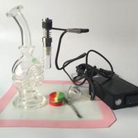 Femme 14mm Joint recycleur Oil Rigs verre Kit ongles Nail WAX Vaporisateur Dry Dried Herbal E Cigarettes Vaporisateur verre Bong conduite d'eau