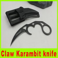 Wholesale Tactical Tools Claw Karambit Training Folding blade knife Outdoor gear Hunting Fighting Knives cool christmas gift L