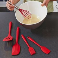 Wholesale 5 set Silicone Turner Spatula Basting Brush Whisk Kitchen Utensils in Hygienic Solid Coating FDA Approved Cooking Tools