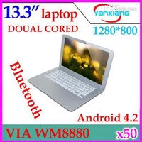 Wholesale 13 inch android VIA WM8880 G GB HDMI Camera WIFI keyboard mini notebook laptop computer ZY BJ