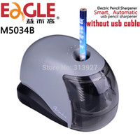 Wholesale Eagle M5034B Electric Pencil Sharpener Automatic Pencil Sharpener USB Cute Pencil Sharpener Without Usb Cable