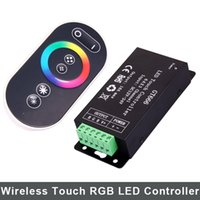 Wholesale 12 V A RGB RF led touch remote controller led strip iron controller GT666 for RGB LED Strips Ax3Channel