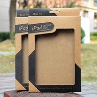 Wholesale New Kraft Paper Retail Package Box For Ipad Mini Air Brown Paper Packing Box For Tablet PC Inch Leather Case Cover Hot