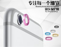 Wholesale Rear Camera Glass Lens Metal Protective Hoop Ring Guard Circle Cover Case Protector For apple iPhone G Plus inch iPhone6 i6