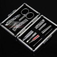 aluminum clipper case - Japan finger plier aluminum case set finger cut nail clipper piece set
