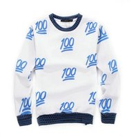 Wholesale New Fashion emoji clothes shirt Casual sweaters men emoji Sweatshirt Printed Hoodies