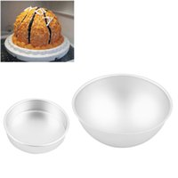 baking bowling balls - Hot Sale D Aluminum Ball Sphere Bath Mold Cake Pan Tin Baking Pastry Mould Quality Chocolate Mould Bowl Birthday Bakeware