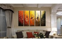 art for girls wall painting - Stickers Handmade Different Girls In Dancing Painting Modern Art Picture Print On Canvas Decorations For Wall And Home