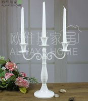 black candelabra - Vintage antique metal candle holder candlestick stand home decoration wedding candle holders decoration black white