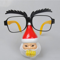 Wholesale Personalized Funny Unisex Santa Claus Blowout Sunglasses Plastic Party Christmas Glasses For Costumes Photo Booth Props