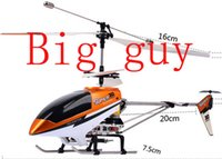 Cheap Wholesale-Rc Big guy Helicopter Remote Control Helicopter Radio Control Metal RC Helicopter with light Free shipping