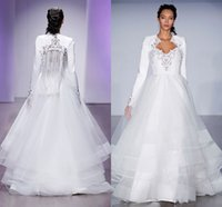 Cheap Sexy Sweetheart Cut-out Design Organza Wedding Dresses with Jackets Tassels Tiered Wedding Dresses 2015 Elegant Brush Trains Wedding Dresses