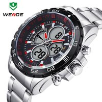 alarm business - Men watches WEIDE WH1103 Waterproof Millitary Watch Dual Movement Date Day Alarm Business Japan Quartz Watch For Men Relogio
