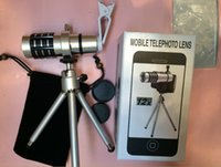Wholesale high quality mobile phone lens times Aluminum X Zoom telescope Long Focus Zoom Lens telescope Lens with clip Tripod for Smart Phone