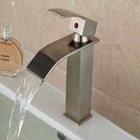 bathroom vanity - And Retail Brushed Nickel Waterfall Bathroom Basin Faucet Modern Square Vanity Sink Mixer